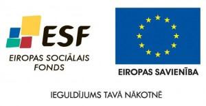 ESF un ES karogs - logo
