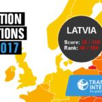 Latvijas vieta Korupcijas uztveres indeksā norāda uz politiskās gribas trūkumu