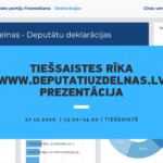 """INTERAKTĪVĀ RĪKA """"DEPUTĀTI UZ DELNAS"""" JAUNĀS VERSIJAS PREZENTĀCIJA"""